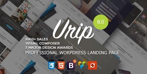 ThemeForest - Urip v8.2.2 - Professional WordPress Landing Page - 11690533