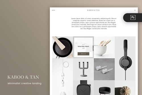 Kabootan Unique and Minimalist Craft PSD Template