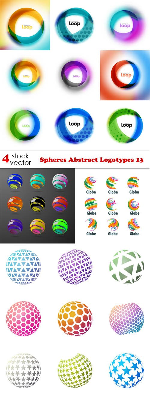 Vectors - Spheres Abstract Logotypes 13