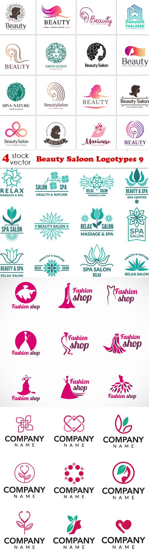 Vectors - Beauty Saloon Logotypes 9