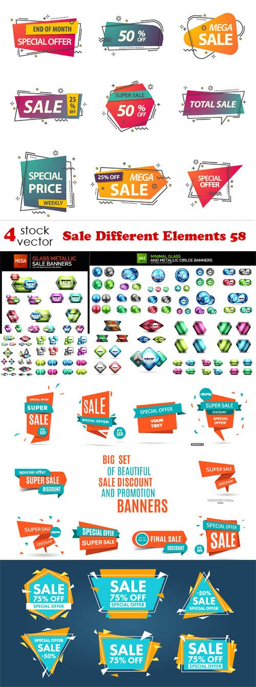 Vectors - Sale Different Elements 58
