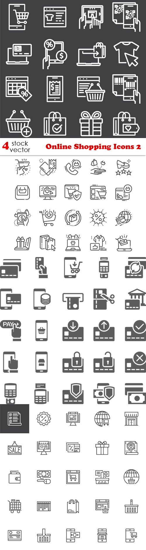 Vectors - Online Shopping Icons 2