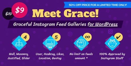 CodeCanyon - Instagram Feed Gallery v1.1.4 - Grace for WordPress - 20429911