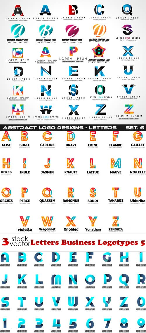 Vectors - Letters Business Logotypes 5