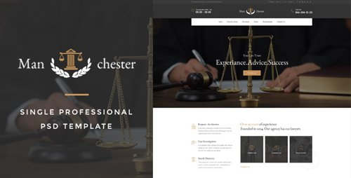 ThemeForest - Manchester v1.0 - Single Professional PSD Template - 17646258