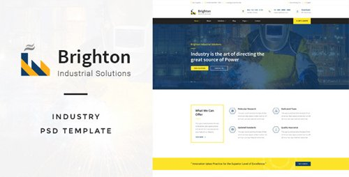 ThemeForest - Brighton v1.0 - Industry PSD Template - 17643043