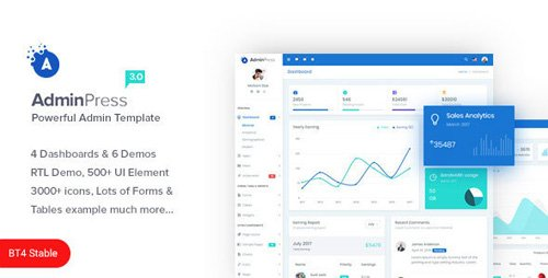 ThemeForest - Admin Press v3 0 - The Ultimate & Powerful Bootstrap 4