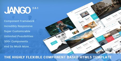 ThemeForest - Jango v2.0.1 - Highly Flexible Component Based HTML5 Template - 11987314
