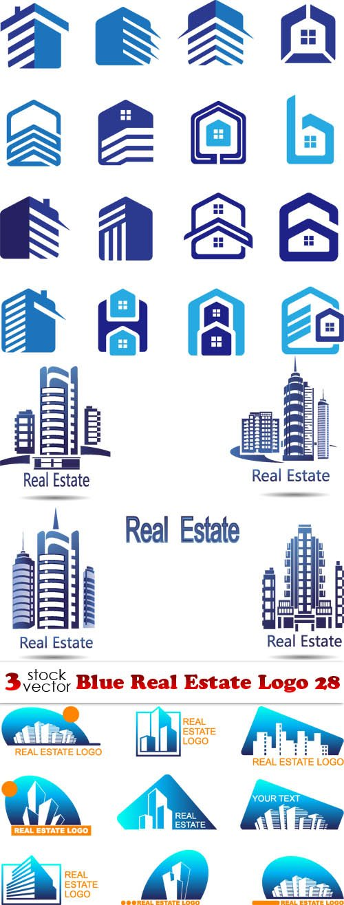 Vectors - Blue Real Estate Logo 28