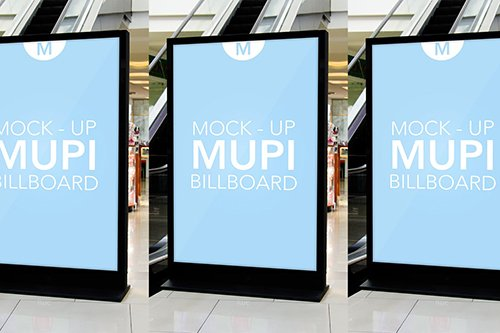 Mock Up Mupi Billboard