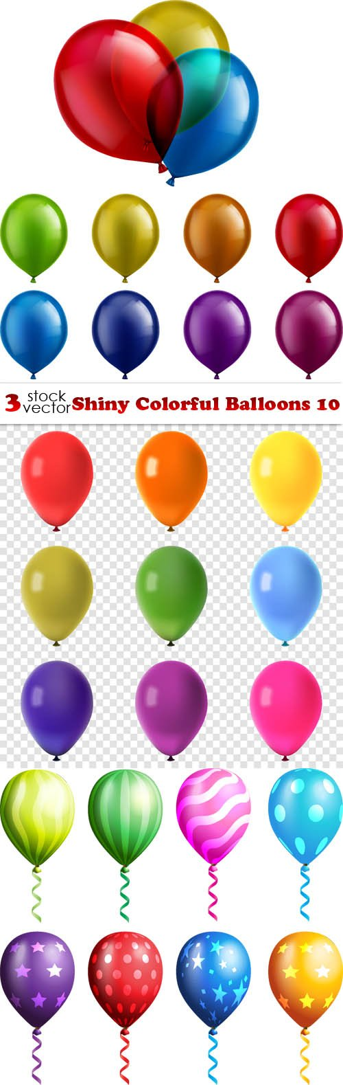 Vectors - Shiny Colorful Balloons 10