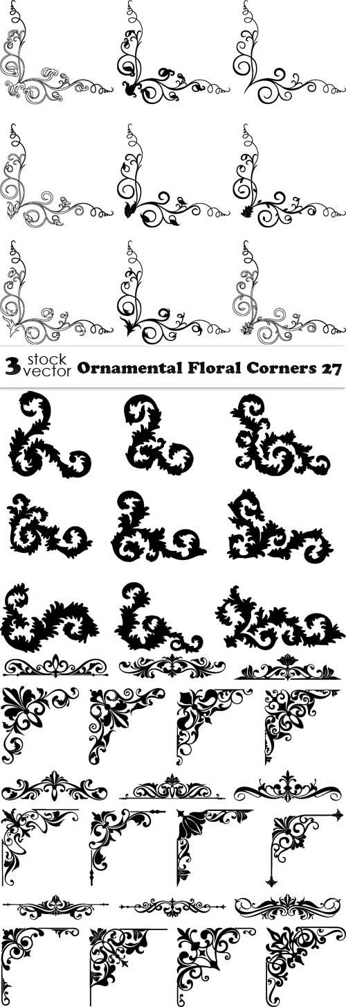 Vectors - Ornamental Floral Corners 27