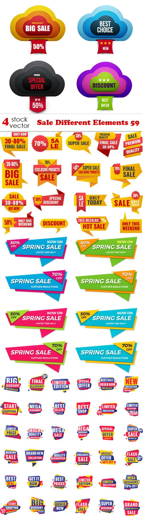 Vectors - Sale Different Elements 59