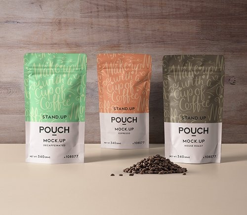 Stand Up Pouch Mockup Vol 4