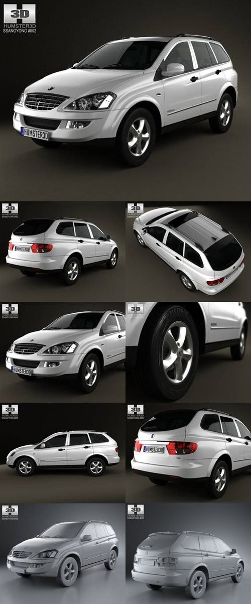 SsangYong Kyron 2011 3D Model Pack