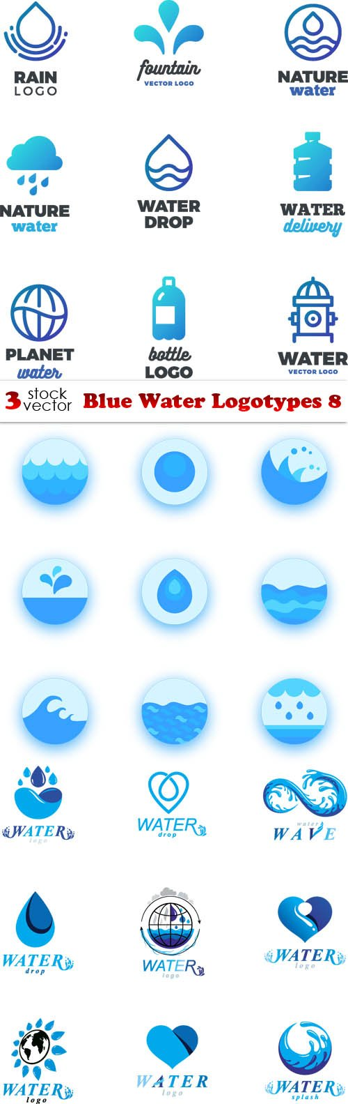 Vectors - Blue Water Logotypes 8