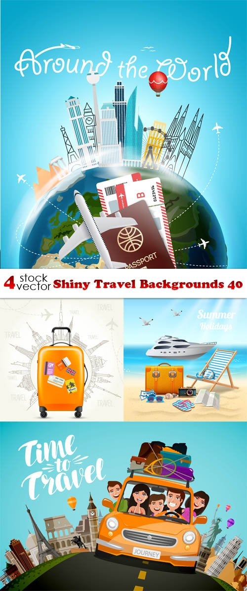 Vectors - Shiny Travel Backgrounds 40