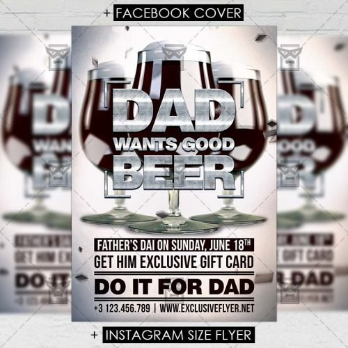 Premium A5 Flyer Template - Father's Day Celebration