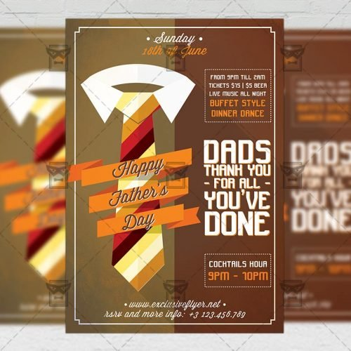 Premium A5 Flyer Template - Happy Father's Day