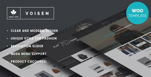 ThemeForest - Voisen v1.6.3 - WooCommerce Responsive Fashion Theme - 14595733