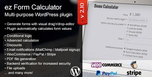 CodeCanyon - ez Form Calculator v2.10.2.1 - WordPress plugin - 7595334