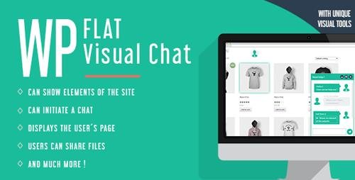 CodeCanyon - WP Flat Visual Chat v5.371 - Live Chat & Remote View for Wordpress - 8329900