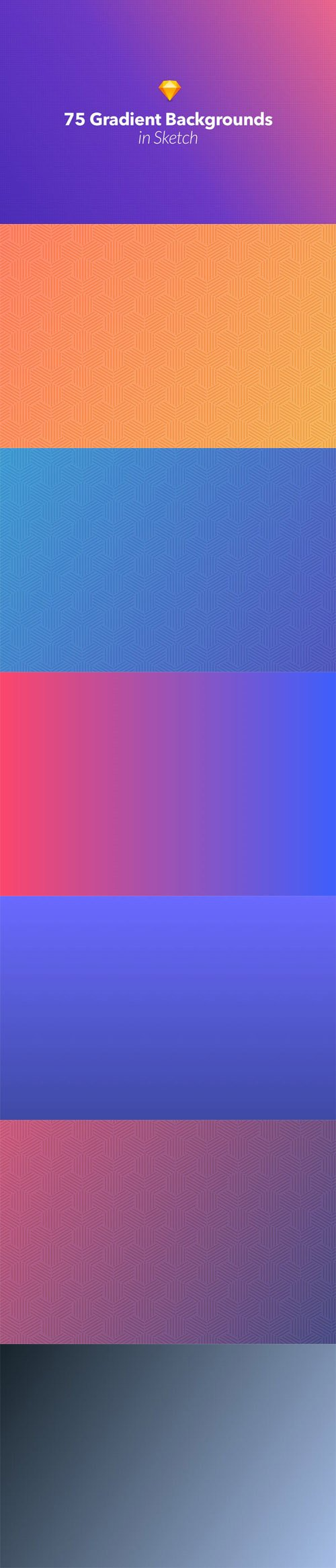 75 Gradient Backgrounds in Sketch Vol. 2