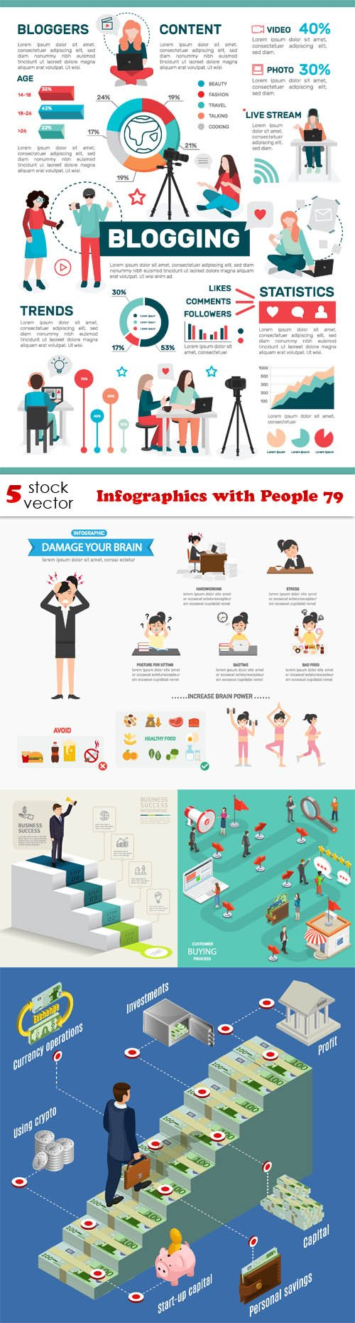 Vectors - Infographics with People 79