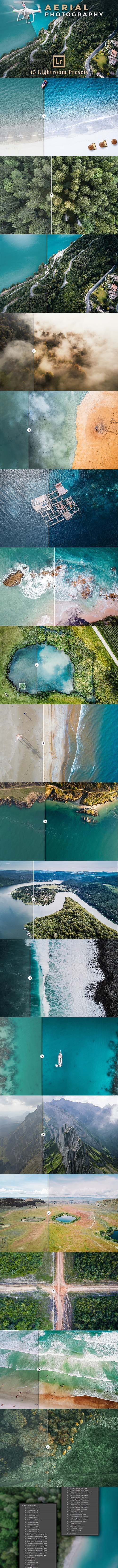 CreativeMarket - Aerial Photography Lightroom Presets 2534249