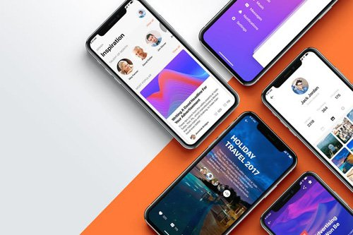 App Presentation Templates for iPhone X #6