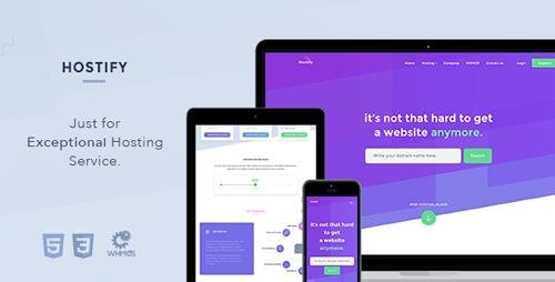 ThemeForest - Hostify - Hosting HTML WHMCS Template (Update: 24 April 18) - 20151243