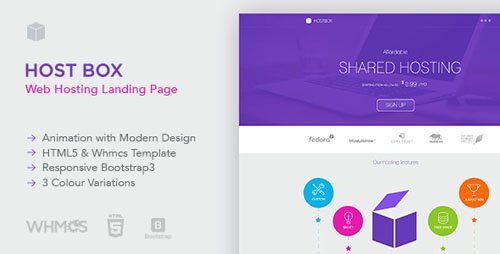ThemeForest - Hostbox - WHMCS & HTML5 Landing Page (Update: 24 April 18) - 12120861
