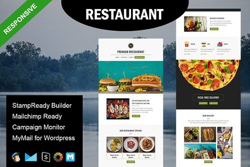 Restaurant - Email Template - CM 1590134