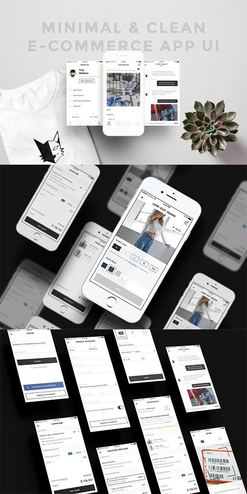 Minimal Clean E-Commerce App - CM 2443215