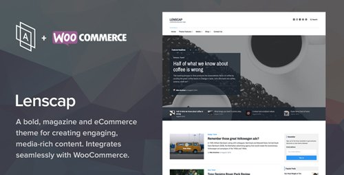 ThemeForest - Lenscap v1.4.0 - Magazine and eCommerce Theme - 18002812