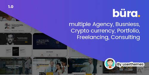 ThemeForest - Bura v1.0 - Multiple Agency, Business, Crypto Currency, Portfolio, Freelancing, Consulting PSD Template - 21194132