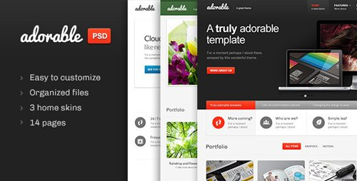 ThemeForest - Adorable v1.0 - Multipurpose PSD template - 3231382