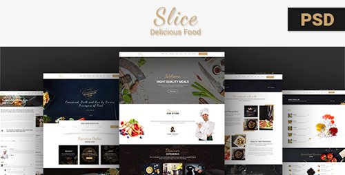 ThemeForest - Slice Restaurant v1.0 - PSD Template - 19819539