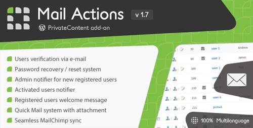 CodeCanyon - PrivateContent - Mail Actions add-on v1.7 - 3606728