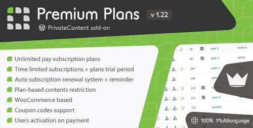 CodeCanyon - PrivateContent v1.22 - Premium Plans add-on - 15316736