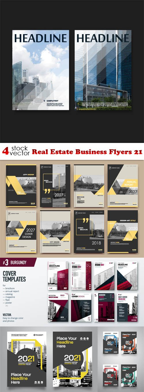Vectors - Real Estate Business Flyers 21