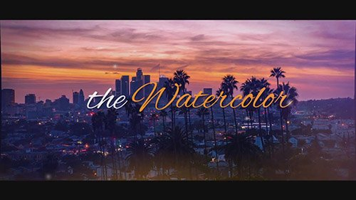Cinematic Watercolor - After Effects Template