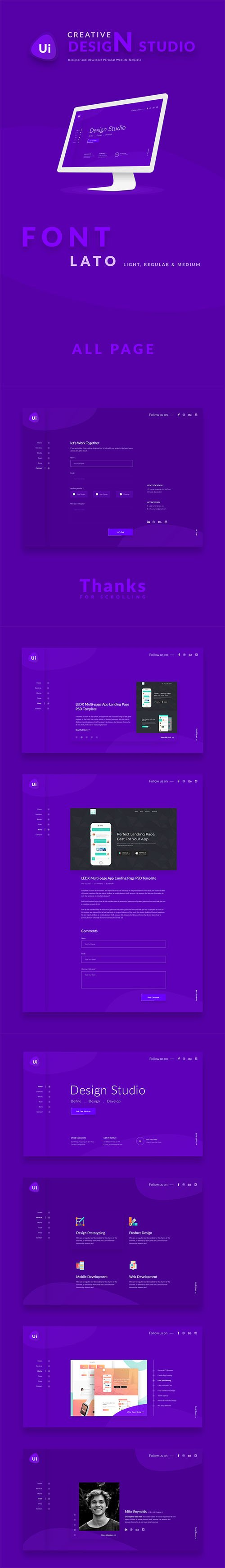 UI Creative Studio Template