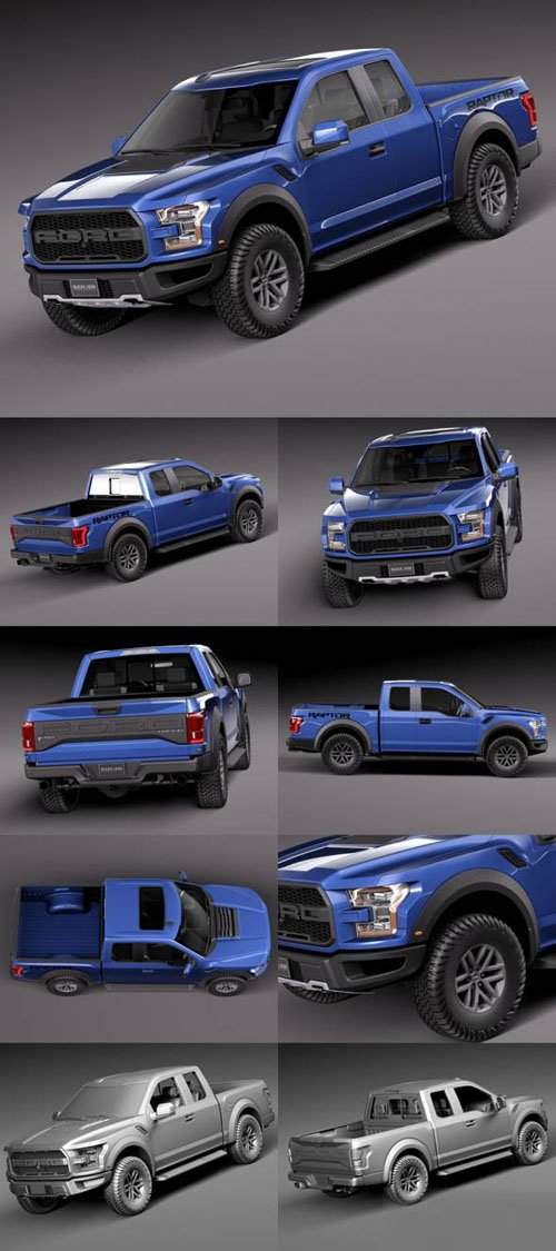 Ford F-150 Raptor 2017 - 3D Models