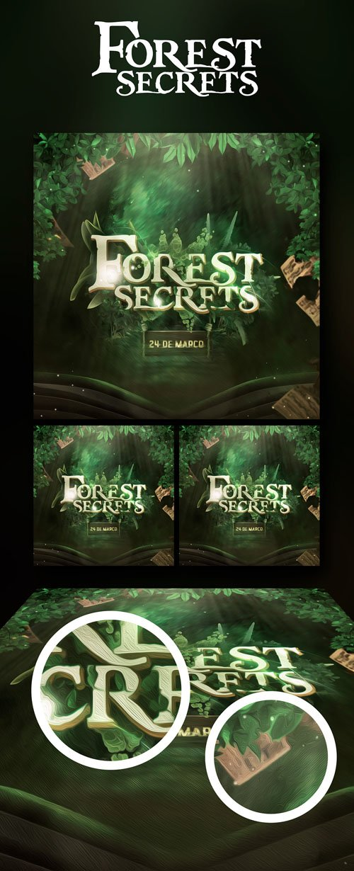 Forest Secrets PSD Template