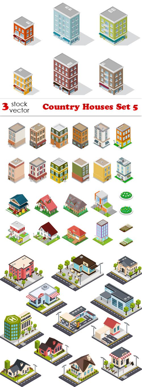 Vectors - Country Houses Set 5