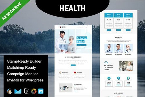 HEALTH - Responsive Email Template - CM 1590127