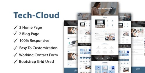 ThemeForest - Tech-Cloud v1.0 - One Page Multipurpose/parallax - 21331554