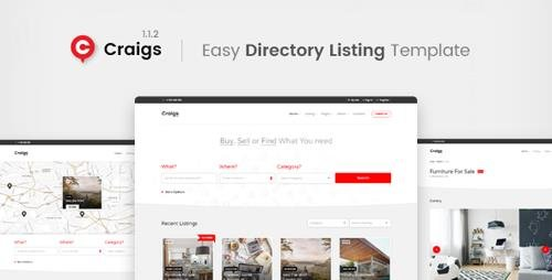 ThemeForest - Craigs v1.1.2 - Directory Listing Template - 20631666
