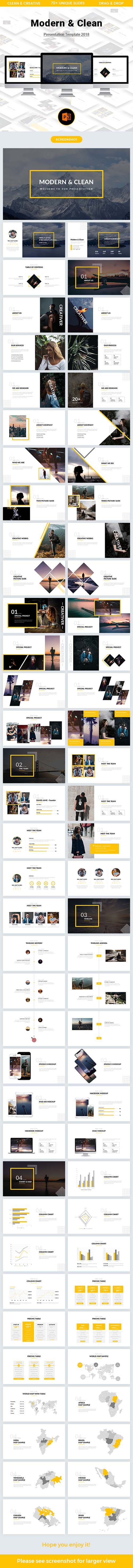 GR - Modern & Clean Powerpoint Template 2018 21965782